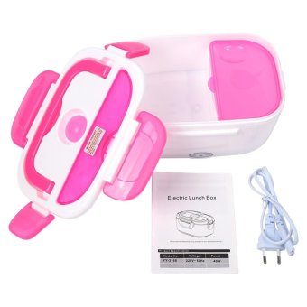 220V Electric Heating Lunch Box Food Warmer Container EU Plug RoseRed - intl - 3