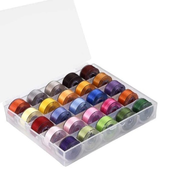 25 Pcs Machine Bobbins Sewing Thread for Brother/ Babylock/ Janome/ Kenmore/ Singer - intl - 4