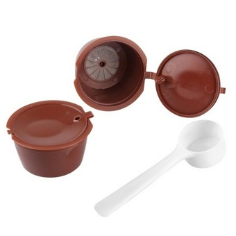 2pcs Refillable Reusable Coffee Capsule Pods Cup for Nescafe Dolce Gusto Machine - intl - 2