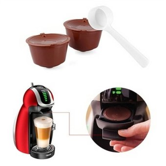 2pcs Refillable Reusable Coffee Capsule Pods Cup for Nescafe Dolce Gusto Machine - intl