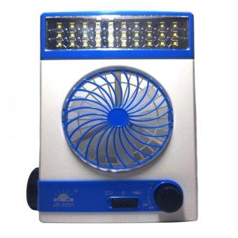 3 in 1 Solar Light Fan (White/Blue)