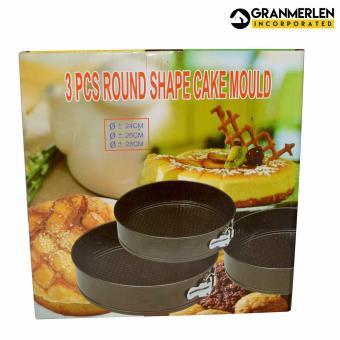 3 Pcs. Round Shape Cake Mould Bake ware - 4