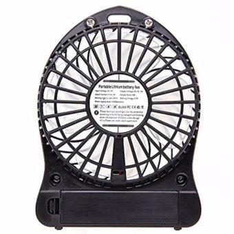 3-Speed Mini Portable Rechargeable Fan (Black) Price Philippines
