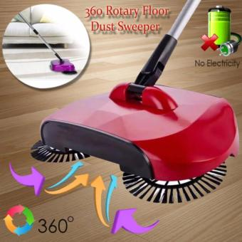 360 Rotary Home Use Magic Manual Telescopic Floor Dust Sweeper(Color May Vary)