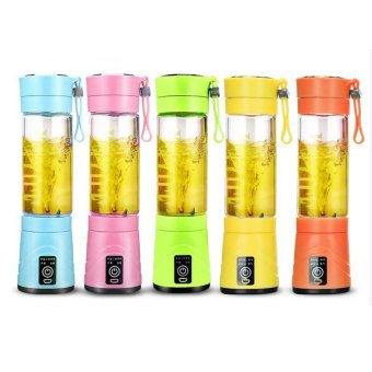 420ml USB Juicer Cup Fruit Mixing Machine Portable EletricRechargeable Mixer Juice Blender Fruit Grinder with Water Bottle -intl