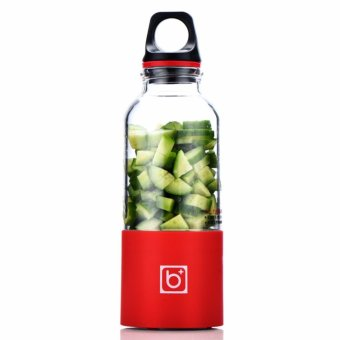 500ML Water Bottle Portable Juicer Cup Rechargeable Electric Juice Blender Red - intl