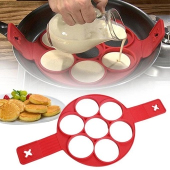 7Holes Silicone Perfect Pancakes Pan Breakfast Maker Egg FlippinFantastic - 5