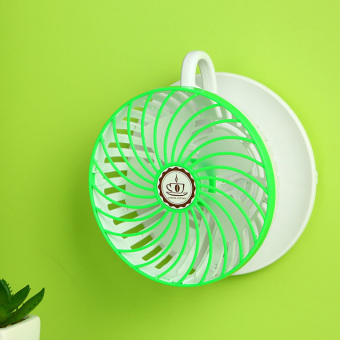 Adjustable Wind Speed USB Coffee Cup Cooling Fan (Green) (Intl)