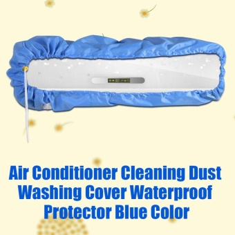 Air Conditioner Cleaning Dust Washing Cover Waterproof ProtectorBlue Color M - intl