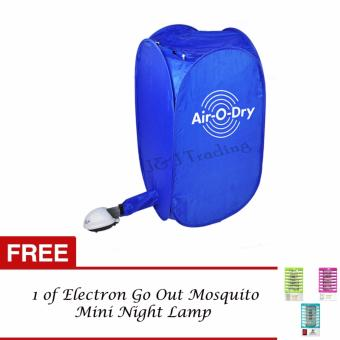 Air O Dry Portable Clothes Dryer (Blue) with FREE 1 of Electron GoOut Mosquito Mini Night Lamp