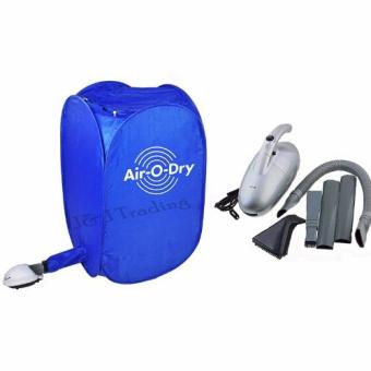 Air O Dry Portable Clothes Dryer (Blue) with JK-8 1000W VacuumCleaner Air Circular System (Silver) Price Philippines