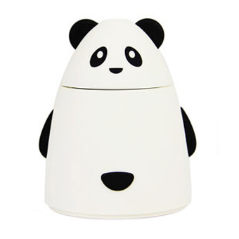 Aroma Diffuser Aromatherapy Air Purifier LED USB Panda Humidifier White