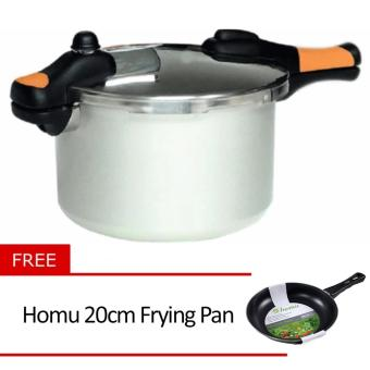 Asahi PR-61 Pressure Cooker 6QTR with Free Homu 20cm Frying Pan