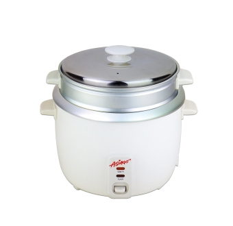 ASIAGO 1L Rice Cooker with Steamer (White)