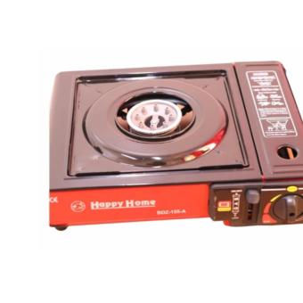 BDZ-155-A Portable Gas Stove (Black and Red) with 2x Casette GasAnd Plus FREE 1xRefillable Butane Gas Lighter - 3