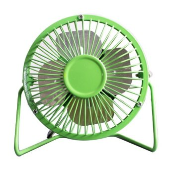 C&C Super Mute 360 Degree Rotating Metal Blade USB Mini DesktopCooling Electric Fan (Green) Price Philippines