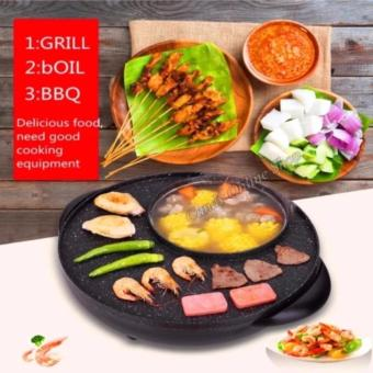 Candy Online 2 in 1 BBQ Grill & Steamboat Hot Pot Shabu RoastFry Pan - 2