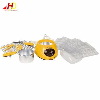 Chocolatiere Household Electric Chocolate Melting Pot Candy Melt Chocolate Cheese Boiler (Yellow) - 4