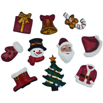 Christmas Decor Santa Claus 10pc Refrigerator, Memo magnet gifft(holiday decors by Everything About Santa )