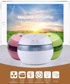 DC 5V Ultrasonic Air Aroma Humidifier Color LED Lights ElectricAromatherapy Essential Oil Aroma Diffuser