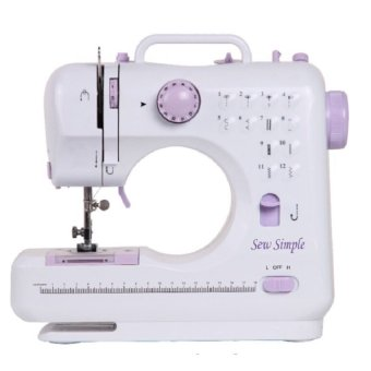 Demotech Sew Simple12-Stitch Sewing Machine (White