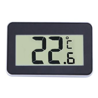 Digital LCD Refrigerator Thermometer Temperature Meter With MagnetHook (Black) - intl