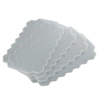 DIY Ice Cream Tools Molds Yogurt Ice Box 37 Ice Cubes Honeycomb Ice Cream Maker Form Pops Mould Popsicle Fridge- White - intl - 2