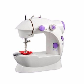 Double Thread Sewing Machine with Foot Pedal and Adapter