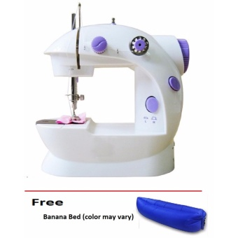 Double Thread Sewing Machine with Foot Pedal and Adapter freeBanana Bed (color may vary) Price Philippines