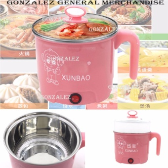EB-2017 Multifunction Stainles Steel Electric Cooker Boiler (Pink)