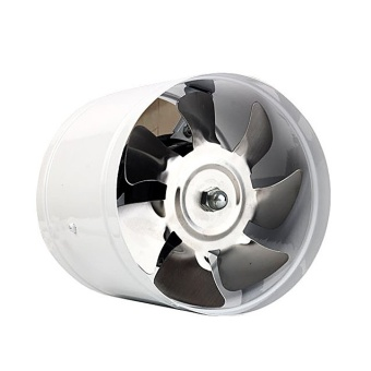 Efficient 6 inch Wall Exhaust Ventilation Fan ( White )