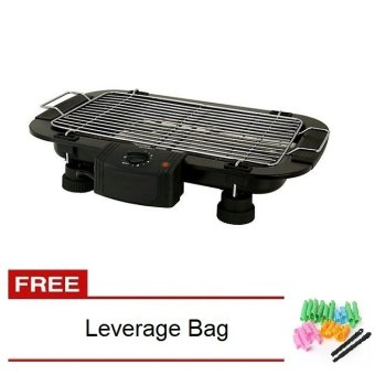Electric Barbecue Grill (Black) with Free Magic Leverage