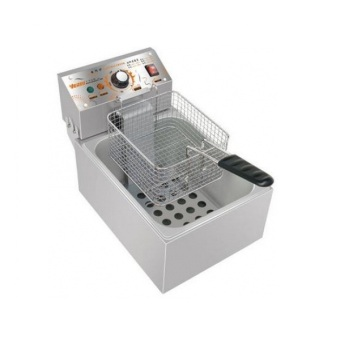 Electric Fryer 1 Tank 1 Basket HY-81EX (Silver) - picture 2