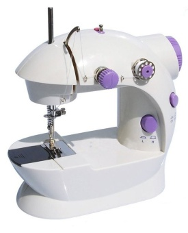 Empire 2 Speed Mini Electric Sewing Machine Kit (White/Lavender)