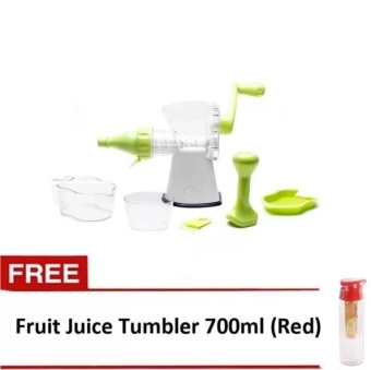 Empire Quality Multi-function Manual Juicer with FREE Fruit Juice Tumbler 700ml (Red)