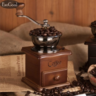 EsoGoal Manual Coffee Grinder Spice Hand Grinding Machine Hand-crank Roller Drive Grain Burr Mill Coffee Machine - intl