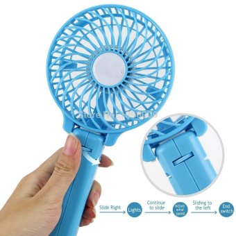 Foldable Hand Fans Battery Operated Rechargeable Handheld Mini Fan Electric Personal Fans Hand Bar Desktop Fan - 3