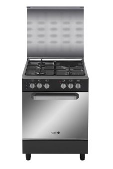 Fujidenzo FGR-6631VTRMB 60 cm. 3 Gas Burner + 1 Electric Hot PlateCooking Range (Matte Black)