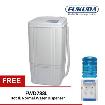 2kg Single Tub Washing Machine FSW62 White With FREE TableTop Water  Disperser FWD788L