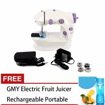GMY Mini Electric Sewing Machine (Violet) With Electric FruitJuicer Smoothie Maker Blender Rechargeable Portable Pink (Intl)