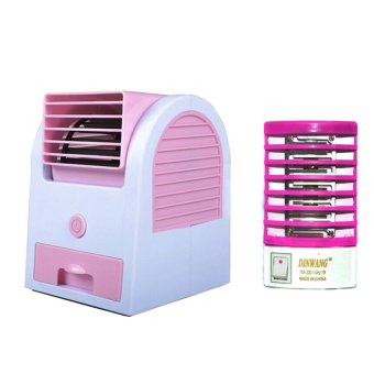 GMY MINI20/DW-777 Mini Air Cooler (Pink) with Dinwang 388/DW-777Electron Go Out Mosquito Mini Night Lamp (Pink) Price Philippines