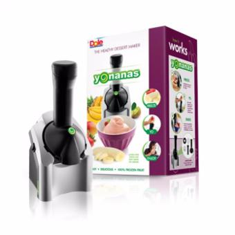 GMY Yonanas Frozen Healthy Dessert Maker - 100% Fruit Soft-ServeMaker (Black/Silver)
