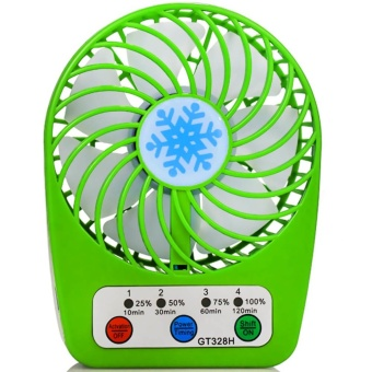 GT328H Mini Micro USB Rechargeable Portable Fan (Green) Price Philippines