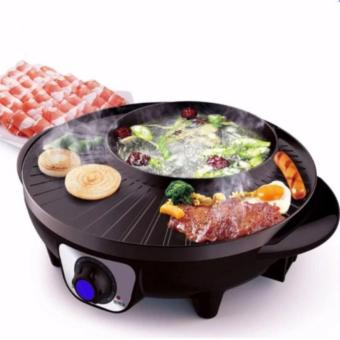 Hansen 2 in 1 Korean style 38cm Multi-function Electric Hot Pot& Grill Hot Deals