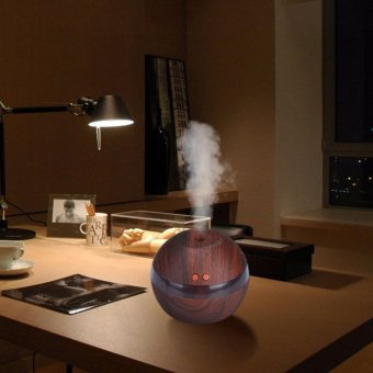 Hanyu Ultrasonic Aroma Oil Diffuser Air Humidifier Purifier AirCleaner(Dark wood color) - intl - 3