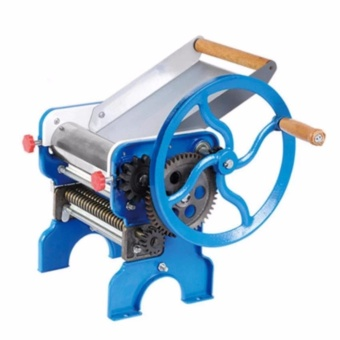 Heavy Duty Big Manual Noodle Making Metal Machine Noodle Cutter(Blue)