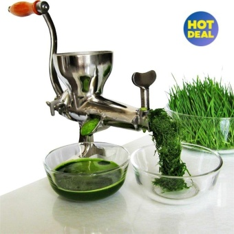 High Quality Hand Manual Wheatgrass Juicer Heavy Duty StainlessSteel Leafy Green Juicer DIY Extractor Tool (Silver) - intl