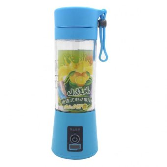 HM-03 Portable and Rechargeable Battery Juice Blender 380ml (SkyBlue)