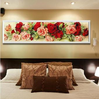 Home Decoration Diamond Painting Rhinestone Cross Stitch RoseFlower Diy Diamond Embroidery Floral Diamond Mosaic Wall Decor -intl