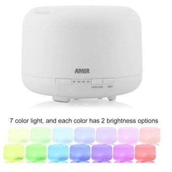 Hot Sell 300ml Essential Oil Diffuser Aroma Diffuser Humidifier with 3 Timer Settings 7-Color Changing LED Light Suitable for Living Room Office Child's Room Yoga And - intl - 3